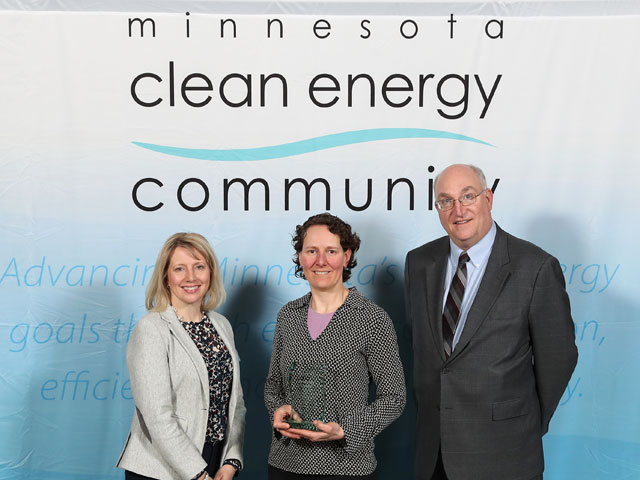 Hennepin County pictured with Commerce Commissioner Jessica Looman and Deputy Commissioner Bill Grant