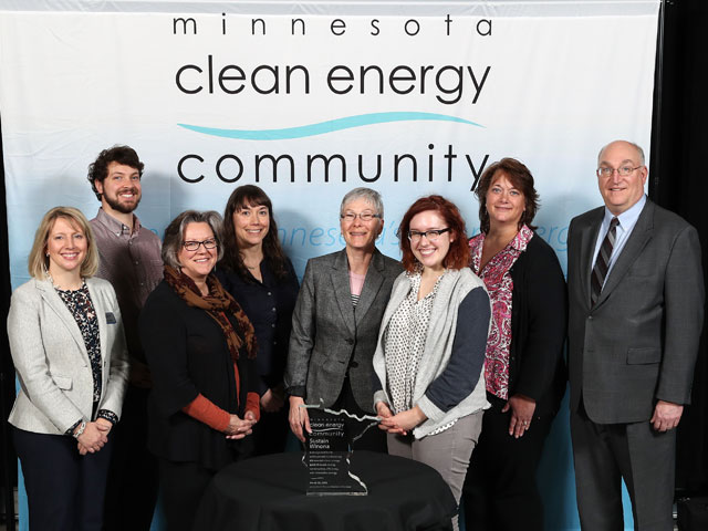 City of Winona pictured with Commerce Commissioner Jessica Looman and Deputy Commissioner Bill Grant