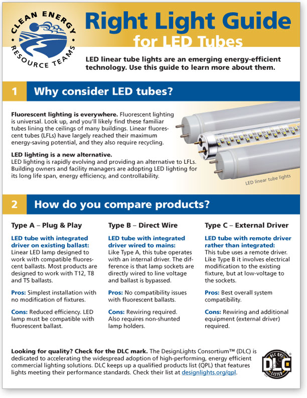 Download the CERTs Right Light Guide for LED Tubes