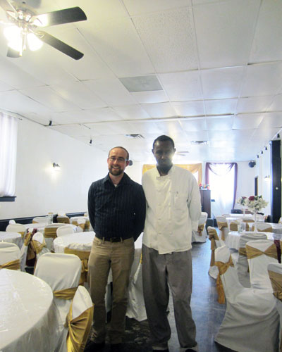 Matt Kazinka, at left, has worked with businesses along Minneapolis' Lake Street corridor for several years and saw an opportunity for better outreach and education around energy efficiency