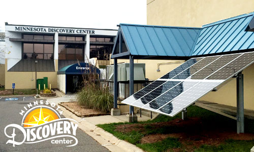 Solar installation at Minnesota Discovery Center