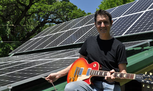 Joe Schertz of The School of Music and Mayhem plugs in to solar energy
