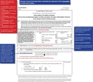Energy Efficiency Improvement Project Sample Application - fill out form to download