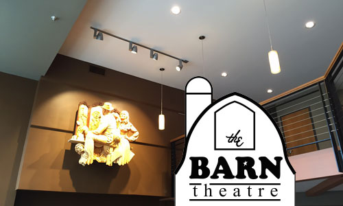 LED lighting upgrades at The Barn Theatre in Willmar we funded in part by a WC CERT seed grant