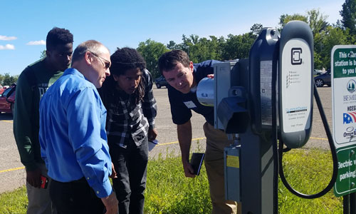 Kicking the tires on electric vehicle charging stations in Bemidji, MN