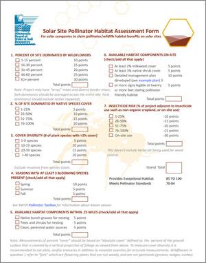 BWSR Pollinator Habitat Assessment Form