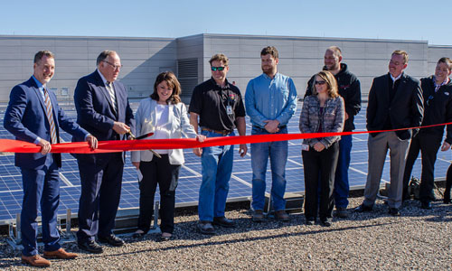 Solar ribbon cutting at the MN Capitol