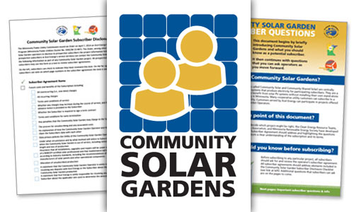 Community solar garden resources