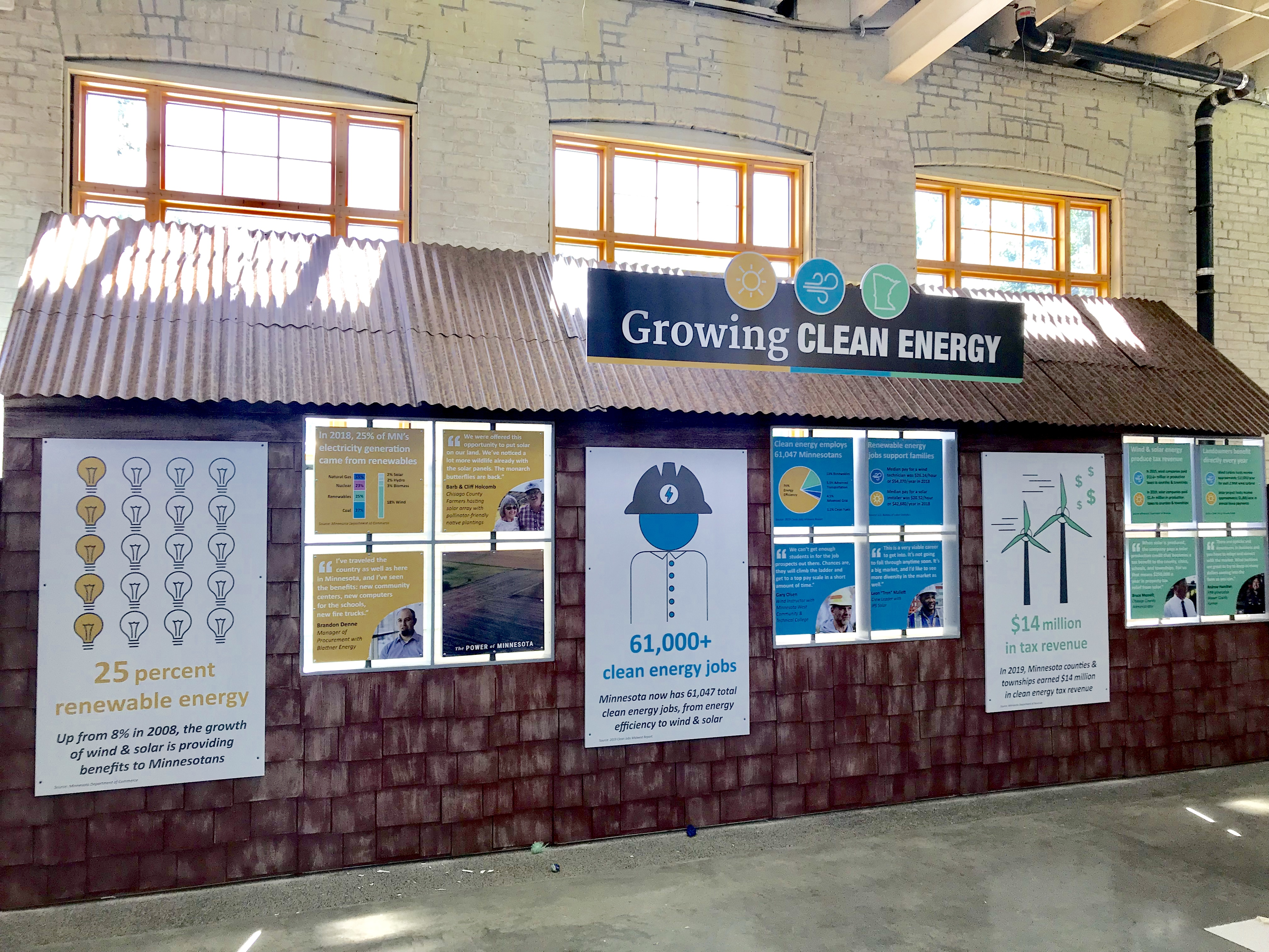 growing clean energy display