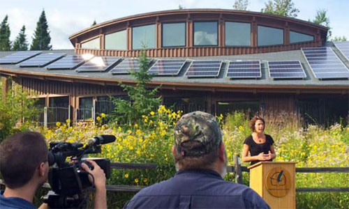 Hartley Nature Center in Duluth renovated its solar energy system and added battery backup