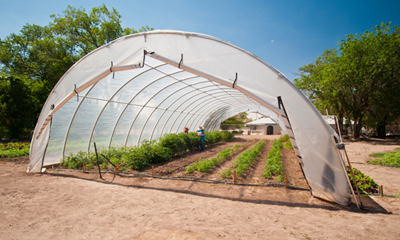 Solar Powered Season Extension High Tunnel Heating