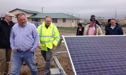 Touring the solar array that powers the Hutchinson wastewater treatment plant