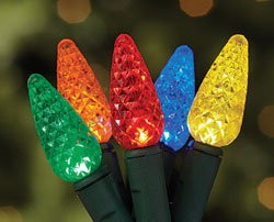 See rebates for LED holiday lights