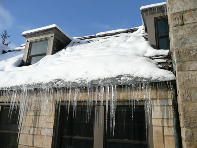 Ice damming is a common problem during Minnesota winters