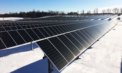 Pictured is the 7 MW Buffalo Solar installation