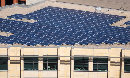 The state of Minnesota recently installed solar panels on the roof of a legislative office building.