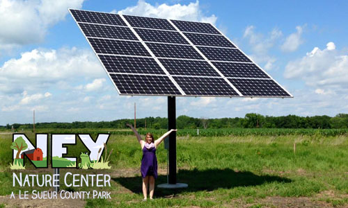 First solar installation at Ney Nature Center