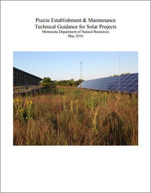 DNR Prairie Establishment & Maintenance: Technical Guidance for Solar Projects