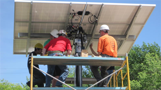 Eden Valley-Watkins High School installs solar panels and inverters