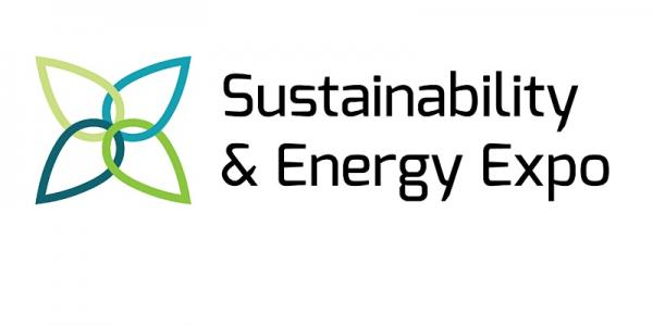"""Sustainability & Energy Expo"" banner with icon"