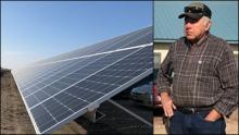 Hen-Way solar array and owner Lonny Schwieger