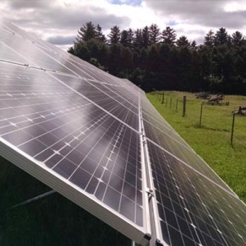 Solar installation at Ronningen Dairy Farm