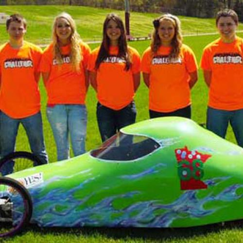 Royalton YES! Team with their super mileage car