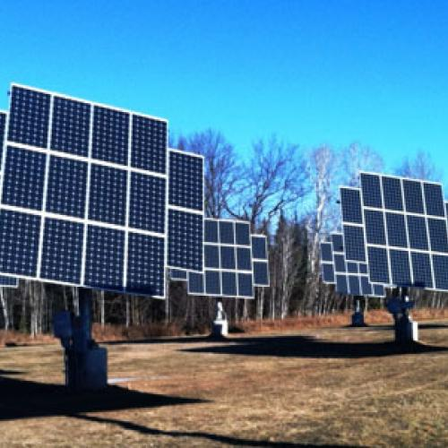31.5 kw solar photovoltaic system at Audubon Center of the North Woods