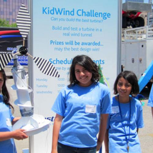 Kids compete in wind turbine design competition and solar boat race
