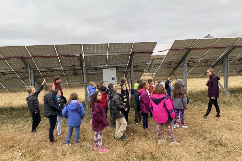 students with solar