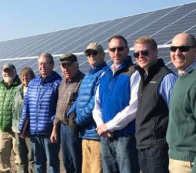 swine farmers tour solar