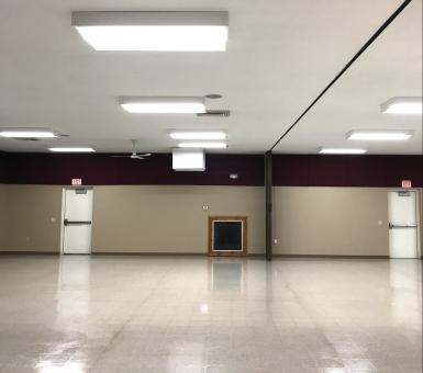 Brownton Community Center lighting