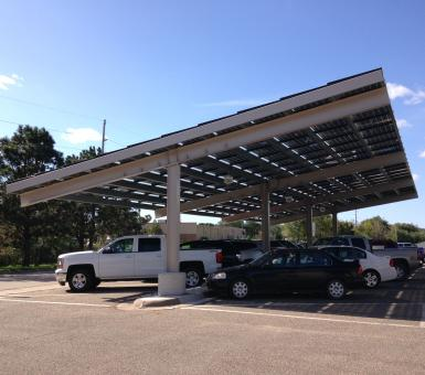 Red Wing Public Works Solar Carport