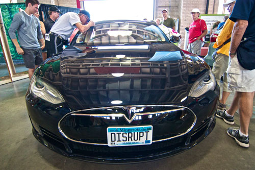 Sam's Tesla at the MN State Fair Eco Experience building