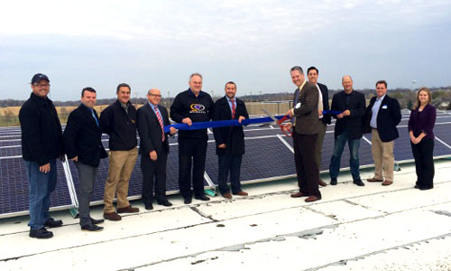 Waconia Public Schools third-party solar ribbon cutting